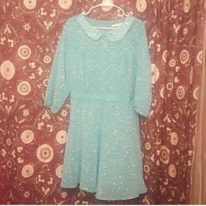 LAUREN CONRAD LC light blue starry 🌟 dress